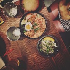 "The Japanese version of ""chicken over rice""  Spicy chicken donburi bowl w/ octopus salad and miso soup for $14 @kuuramen #sogood #highcarb #alwayshungry #cheapeatsnyc #cravings #rawoctopus #japanesefood #foodporn #nyceats #nycfoodie #berlinfoodie #timeoutnewyork #nyeater #bestramennyc #kuuramen #donburi #groundedchicken #pickles #misosoup #downtown #flatlaystyle #foodielife #gloobyfood #feedfeed #ilovenewyork #ramen #gettingfatandhappy"