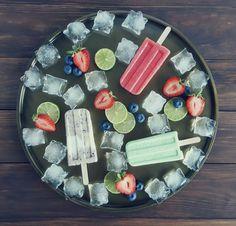 Heidelbeer-Creme Erdbeer-Limette & Kokos-Limette - Ice Pops