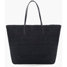 Chico's Easy Zip Beach Tote (190 RON) ❤ liked on Polyvore featuring bags, handbags, tote bags, black, paper purse, beach bag, zip tote, paper tote bags and zippered beach bag