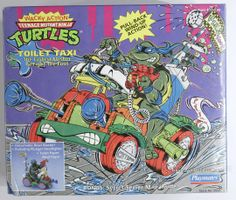 Toilet Taxi Teenage Mutant Ninja Turtles Wacky Action TMNT Playmates 1990 in Vehicles, Trains & Remote-Control. Ninja Turtle Figures, Ninja Turtle Toys, Teenage Mutant Ninja Turtles, Retro Toys, Vintage Toys, Tmnt, Vintage Playmates, Paw Patrol Toys, Classic Toys