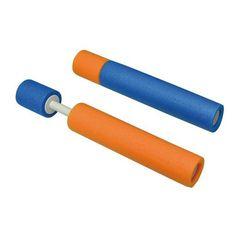 Water can - Foam - Ø 4 x H 33 cm - Blue and orange