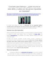 Concierto Para Delinquir: ¿Quién Incurre en Este Delito y Cuáles Son Las Penas Impuestas en Colombia?