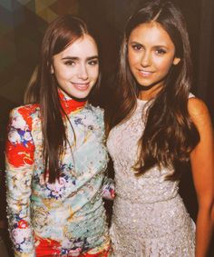 Lily Collins & Nina Dobrev at the TIFF party sponsored by Smartwater 2012.