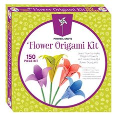 Flower Origami Craft Kit by Pinwheel Crafts -- Details can be found by clicking on the image.