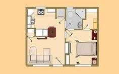 small house plans under 200 sq ft - Google Search