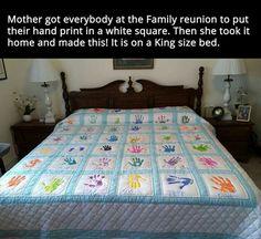 **Family Handprint Quilt...I want to Make One for Each of My Children, Grandchildren & Myself!
