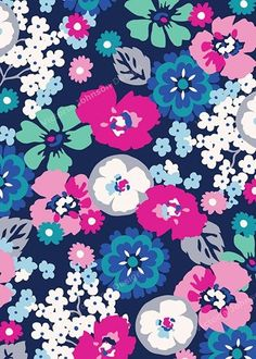 Ombré blue and pink flowers