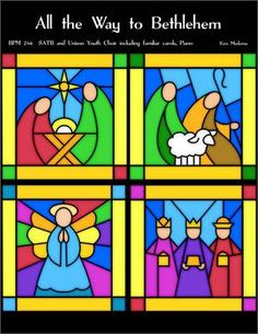 Anthem for adult and youth choirs including familiar carols Christmas Mosaics, Kids Christmas Ornaments, Stained Glass Christmas, Christmas Decorations For The Home, Christmas Nativity, Christmas Art, Christmas Themes, Xmas, Christmas Crafts Sewing