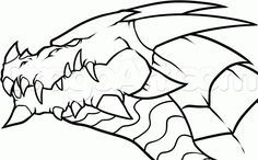 Dragon easy drawings how do you draw a dragon easy easy to draw dragon dragons cool Simple Dragon Drawing, Dragon Head Drawing, Easy Dragon Drawings, Chinese Dragon Drawing, Scary Drawings, Dragon Artwork, Dragon Pictures, Pictures To Draw, Realistic Dragon