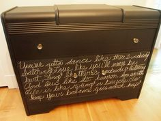 1940's Sideboard Painted Matte Black with Chalkboard Paint on bottom Cupboards