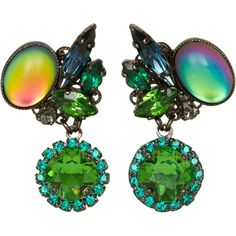 Erickson Beamon - Envy Green Swarovski Crystal Earrings