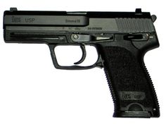 Heckler and Koch USP (Universal self-loading pistol).  One of the most accurate, durable, and reliable handguns in the world. #HK