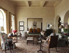 Living Room Lined with Comfort  - HouseBeautiful.com