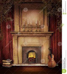 alter-kamin-mit-einer-violine-25998612.jpg (1173×1300)