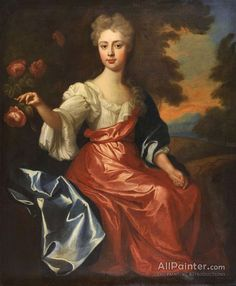 Sir Godfrey Kneller, Bt. Portrait Of Anne Breame, Mrs Humphry Ambler oil painting reproductions for sale