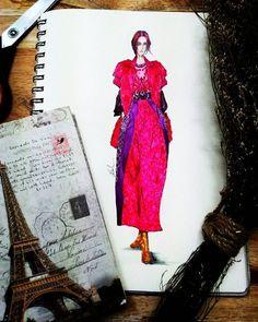 "521 Likes, 11 Comments - Eris Tran (@eris_tran) on Instagram: ""@itsjeremyscott ss fashion show 2016. @trendsketches . #sketchoftheday .#sketch .#sketching…"""
