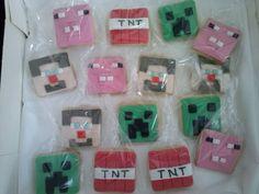 Galletas de Minecraft.