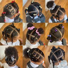 Black Baby Girl Hairstyles, Little Girls Natural Hairstyles, Cute Toddler Hairstyles, Kids Curly Hairstyles, School Hairstyles, Little Girl Braids, Braids For Kids, Curly Hair Styles, Instagram