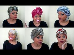 5 Ways To Wear A Turban/Scarf - Maraisa Fidelis (Portuguese) by nona Afro Style, Turban Style, Carrie Bradshaw, Hair Cover, Hijab Tutorial, Islamic Fashion, Headgear, Summer Hairstyles, Headdress