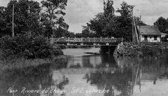 L'ancien pont du haut du village, vers 1955.