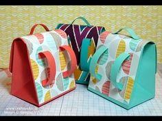 ▶ Schultasche mit dem Stanz und Falzbrett für Geschenktüten - YouTube