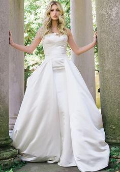 Strapless column dress with dramatic overlay | Jovani jb39250 | http://trib.al/2WLT3HD