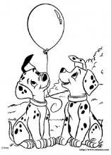Free printable dalmatians coloring pages.