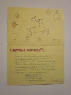 Student-made Christmas card