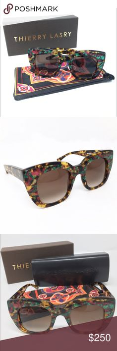 Thierry Lasry Intimacy Sunglasses Tokyo Tortoise BRAND NEW! Oversized, Acetate, Vintage and Rectangular Sunglasses! With Gradient Lens 100% UV protection. ✨no trading at this time✨ Thierry Lasry Accessories Sunglasses