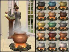 Mod The Sims - AL Cast Iron Cauldron Recolours