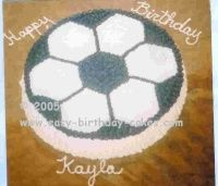 simple soccer cake