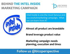 Behind the #IntelInside campaign   #Brand #Branding #BrandManagement #MarketingCampaign
