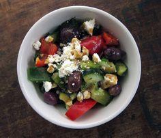 Poppytalk: The Big Salad: Greek-Style Keeper Vinaigrette + Salad