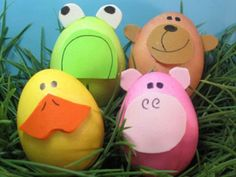 Zoo Animal Easter Eggs - 80 Creative and Fun Easter Egg Decorating and Craft Ideas