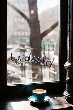 Joanne pio:bluebird coffee shop - nyc, new york I Love Coffee, Coffee Break, My Coffee, Morning Coffee, Coffee Travel, Sunday Morning, Coffee Cafe, Coffee Drinks, Coffee Shops