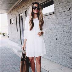 Nordstrom / Hinge White Peasant Dress