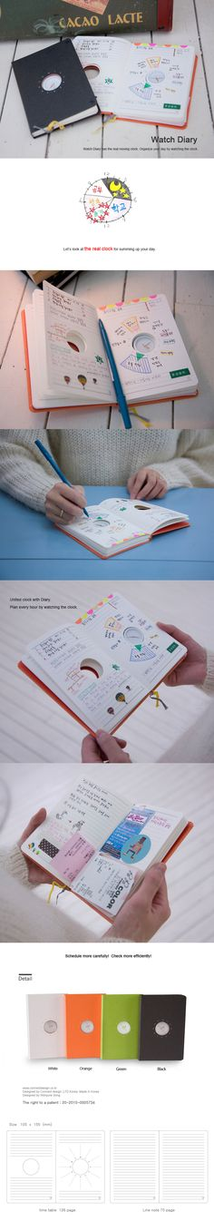 Holy crackers. This is the most amazing invention that I have ever seen. It's similar to the chronodex style of planning your day visually, but this takes it a step further and actually includes a small clock for you to plan your day with!