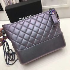Chanel Gabrielle Purple Iridescent Hobo Bag - Bella Vita Moda #CHANEL #CHANELBAG #CHANELGABRIELLE #CHANEL2018 #CHANELBAG #CHANELLOVER #CHANELFORSALE #BAGFORSALE #BAGLOVER