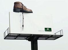 Woodland Shoe Creative Billboard #ad #outdoor