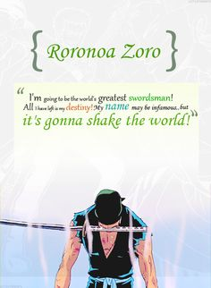 One Piece anime_ Epic Zoro One Piece Manga, One Piece Gif, Zoro One Piece, Roronoa Zoro, Manga Anime, Anime One, Anime Stuff, One Piece Quotes, The Pirate King