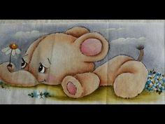 Pintura em tecido - Eliane Nascimento Miosótis - YouTube