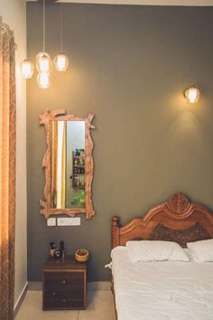Bedroom Wall Paint Colours That Work for Indian Homes, wall painting ideas for bedroom and living room Bedroom Wall Paint Colors, Best Bedroom Colors, Bedroom Wall Designs, Diy Home Decor Bedroom, Wall Painting For Bedroom, Bedroom Themes, Bedroom Furniture, Bedroom Color Combination, Wall Paint Combination