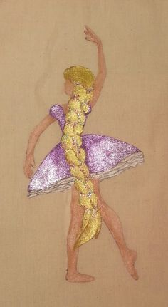 Rapunzel ballerina hand painted tote bag. Ballet bag Check out this item in my Etsy shop https://www.etsy.com/listing/217436260/disney-princess-rapunzel-ballerina-hand