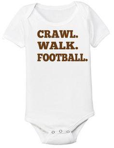 08491cc4a Crawl Walk Football Baby Bodysuit