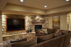 finished basement ideas | Framing a basement in Denver | Elkstone Basements