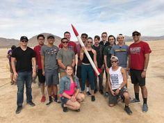 Here, the LMU Rocket Team prepares to  compete in the NASA Student Launch competition taking place during April 5-9.