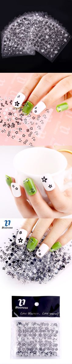 24 Manicure Designs Silver Flowers Nail Stickers, Nails DIY Decorations Tools For 3D Nail Art JH154