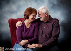 Also be sure to browse our Outdoor On-Location Family Gallery! Older Couple Poses, Older Couples, Couple Posing, Couple Portraits, Old Couple Photography, Family Portrait Photography, Family Posing, Family Photos, Studio Poses