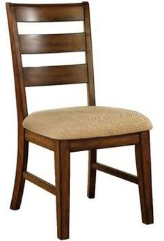 Furniture of America Sun & Pine Ladder Back Fabric Padded Side Chair Wood/Antique Oak (Set of Ladder Back Dining Chairs, Wooden Dining Chairs, Dining Table Design, Side Chairs, Dining Chair Set, Plywood Furniture, New Furniture, Furniture Making, Furniture Design