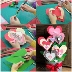 How to create a beautiful Valentine's Day decor Diy Craft Projects, Diy Crafts, Romantic Homes, Home Deco, The Help, Beautiful Homes, Valentines Day, Create, Inspiration